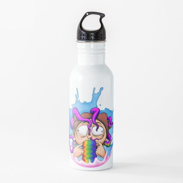 Morty Rainbow Squishy Water Bottle