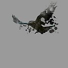 Raven - Distressed version by inkDrop