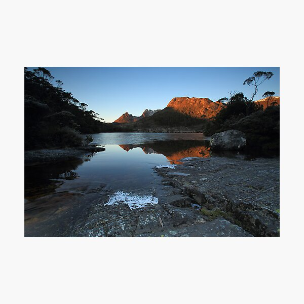 Frozen Lake Lilla Photographic Print