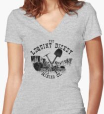 The LeQuint Dickey Mining Co. Women's Fitted V-Neck T-Shirt