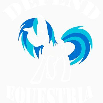 Defend Equestria - Vinyl Scratch by Fluttershy808