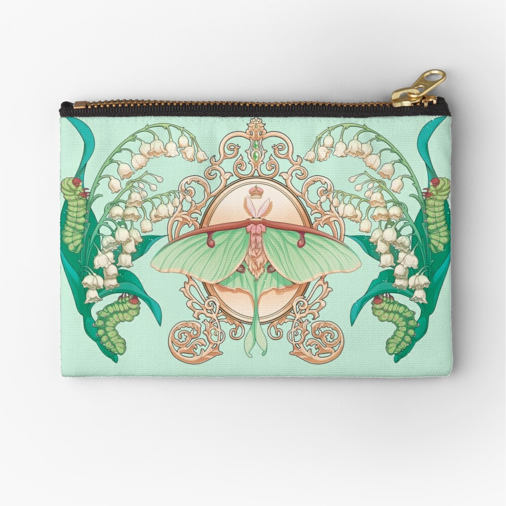 Moon Moth Zipper Pouch