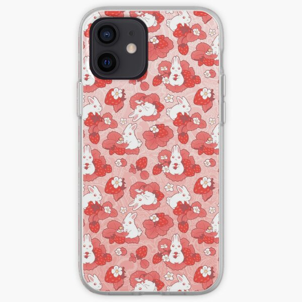 Strawbunny Delight iPhone Soft Case