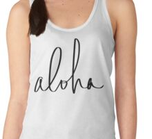 Aloha Hawaii Typography Women's Tank Top