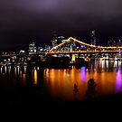 Brisbane City at night  by AdamBortic