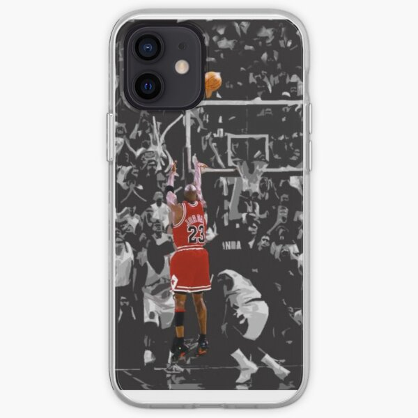 Michael Jordan The Last Shot for Game 6 Coque souple iPhone