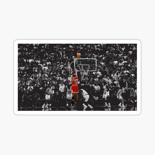 Michael Jordan The Last Shot for Game 6 Sticker