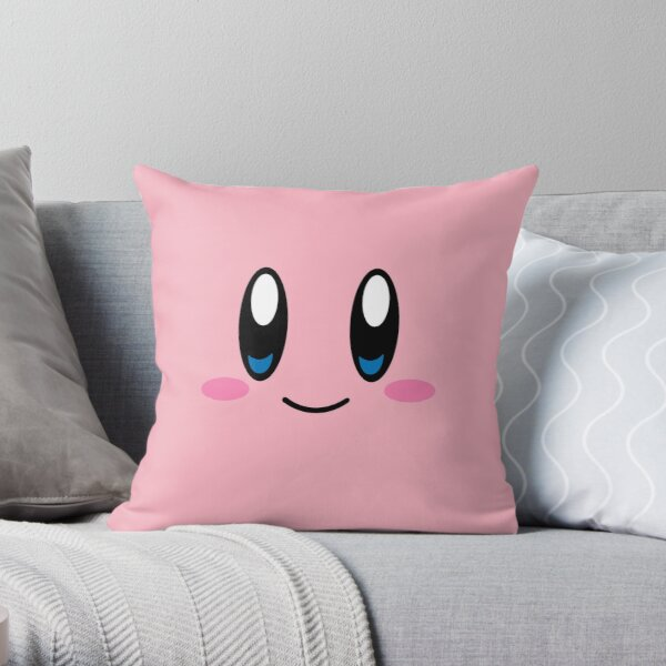 Kirby Face (Pink) Throw Pillow