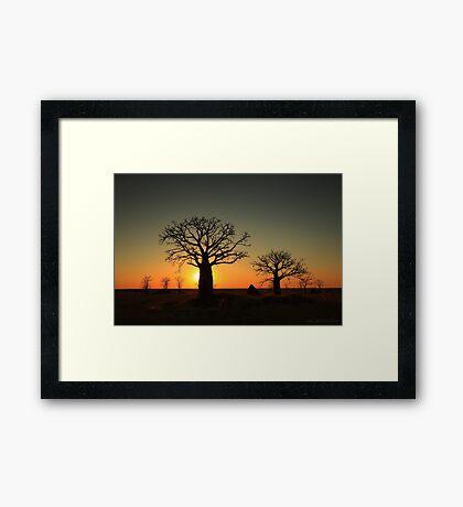 Sunset on the flats Framed Print