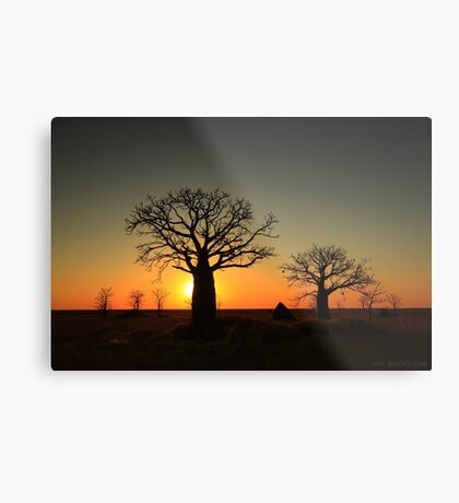 Sunset on the flats Metal Print