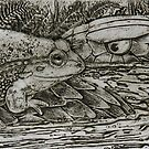 Bell Frog vs Tiger Snake by SnakeArtist