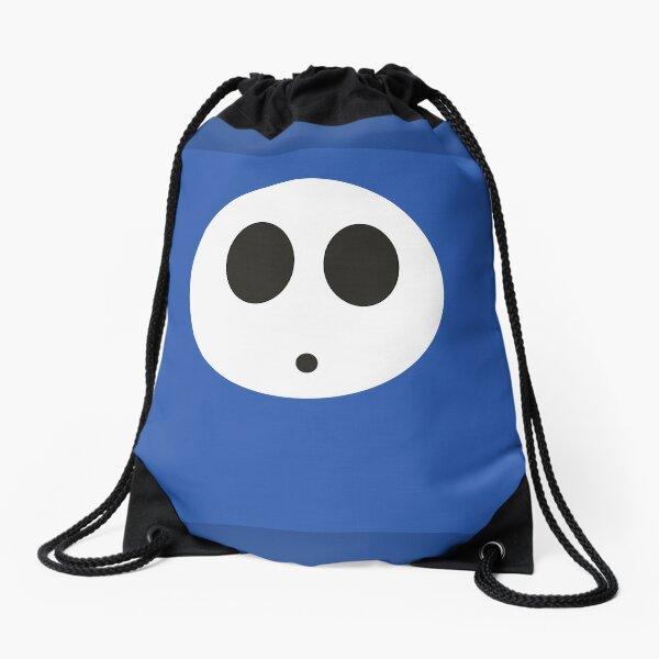 Shy Guy (Blue) Drawstring Bag