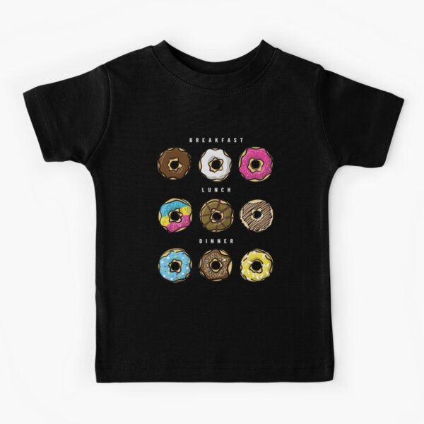 Donut Shirt with lots of Donut Charm - Donut Party Shirt with colorful Donuts - Donut Birthday Gift - Foodie Shirt for Donut Lover Kids T-Shirt
