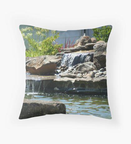 Waterfalls in Suburbia Throw Pillow