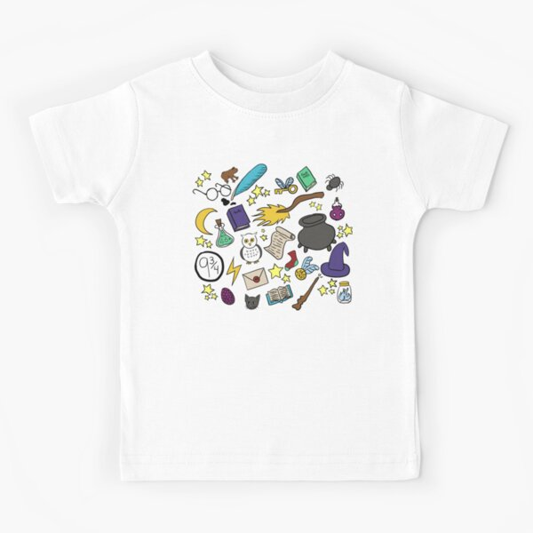 Witchcraft and Wizardry Doodles! Kids T-Shirt