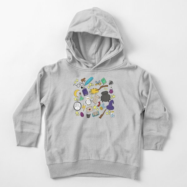 Witchcraft and Wizardry Doodles! Toddler Pullover Hoodie
