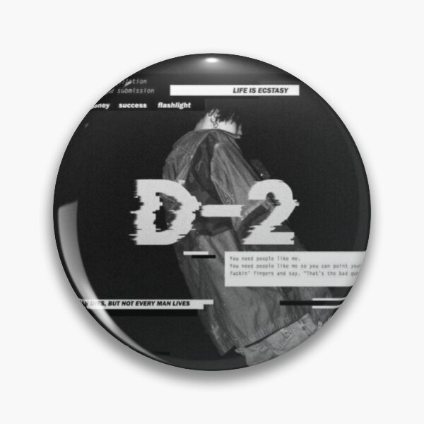 Agust D and D-2 Album Crossover Pin