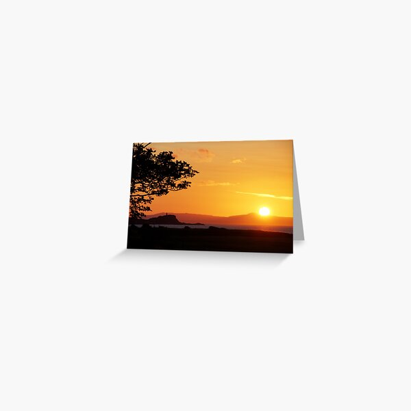 Sunset and Fidra Island Greeting Card