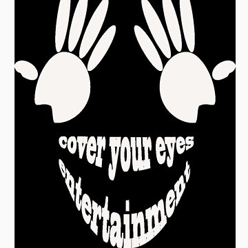 Cover Your Eyes Entertainment White Logo (Sticker) by ChuckDaFuk