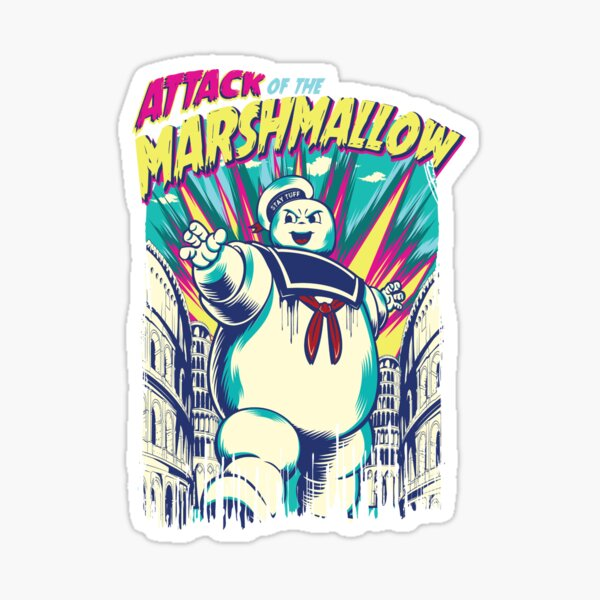 Attack of the Marshmallow Sticker