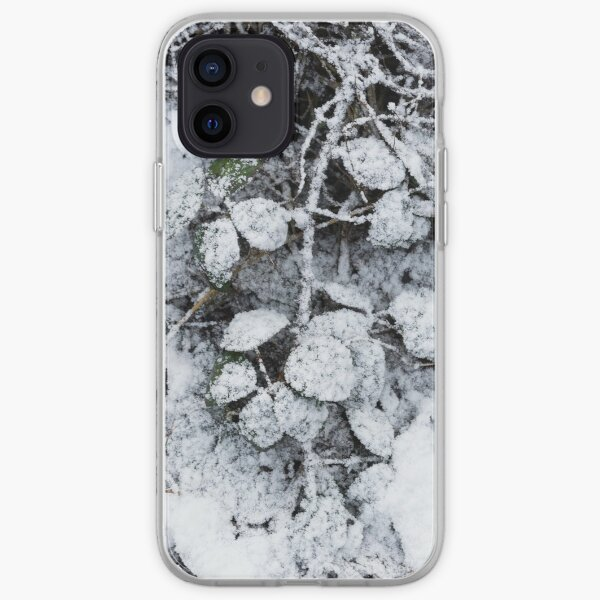 Snow Covered Fern iPhone Soft Case