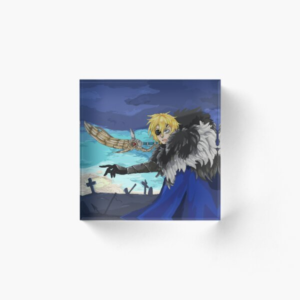 Dimitri Fire Emblem Pixel Art Acrylic Block