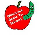 Welcome Back To School, Apple and Worm by Scott Ruhs