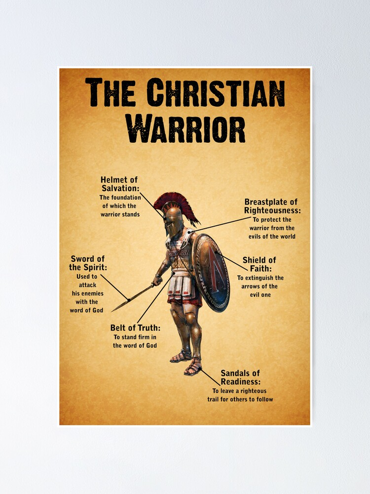 Quot The Christian Warrior Quot Poster By Kingofgraphics Redbubble