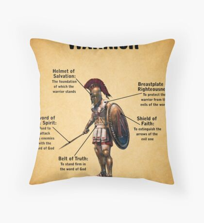 The Christian Warrior Throw Pillow
