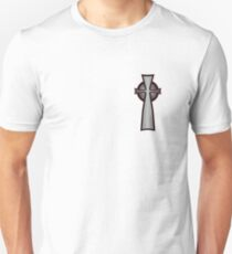 Celtic Cross - Red and Black T-Shirt