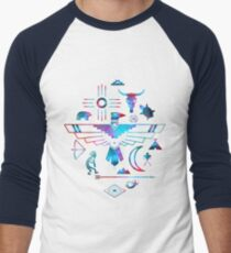Native American Symbols Men s Baseball ¾ T-Shirt 2e29bcdc2ca4