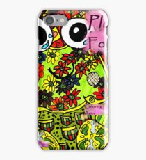 Plush forest coloring book cover iPhone Case/Skin