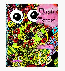 Plush forest coloring book cover Photographic Print