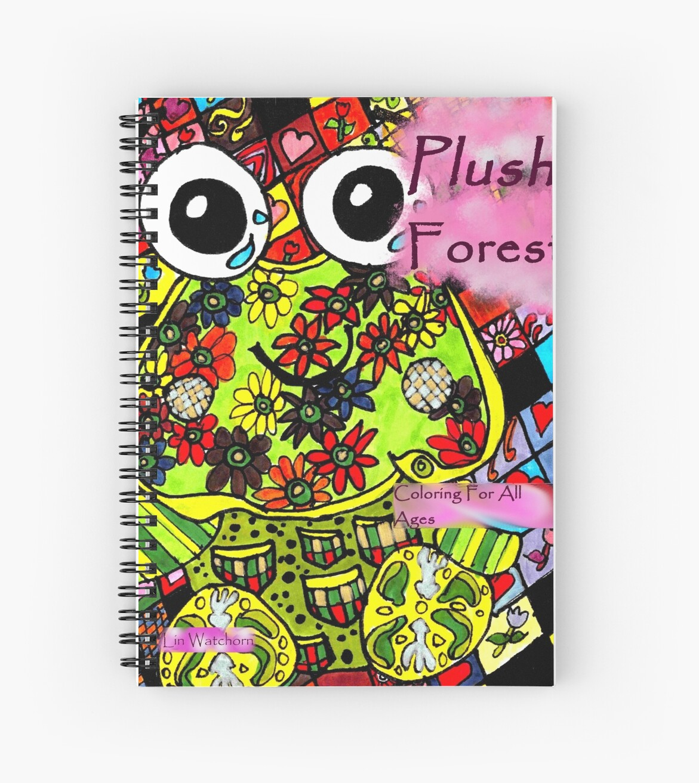 Cuadernos de espiral «Cubierta de libro para colorear de bosque de ...
