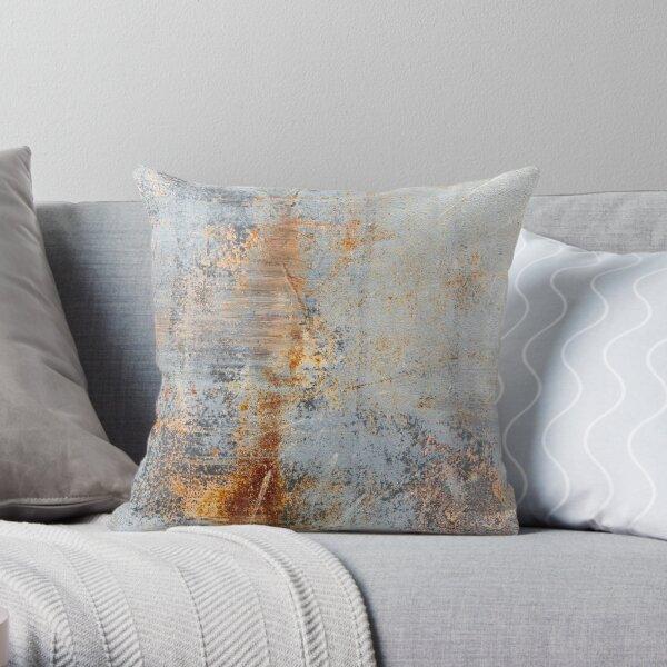 Burn Blue Rust Throw Pillow