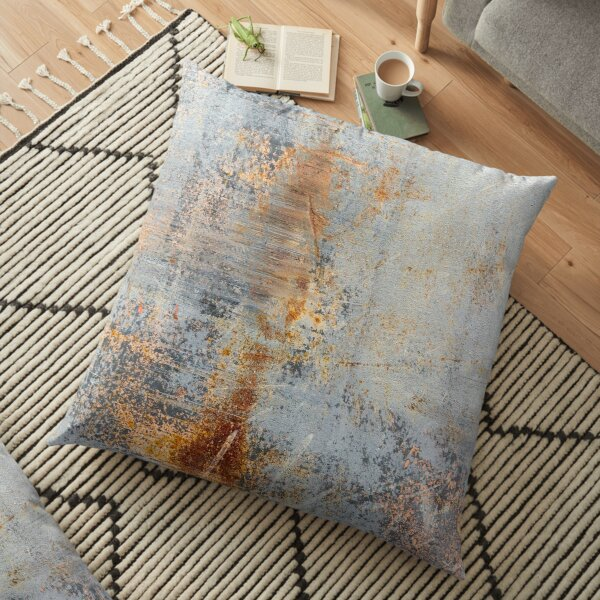 Burn Blue Rust Floor Pillow