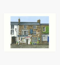 Reeth Gift Shop, Swaledale Art Print