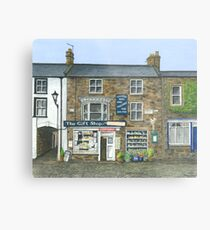 Reeth Gift Shop, Swaledale Metal Print