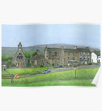 Reeth Chapel and Green, Swaledale Poster