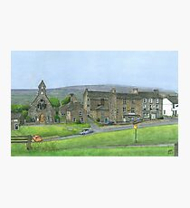 Reeth Chapel and Green, Swaledale Photographic Print