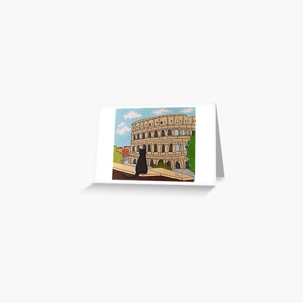 Journal of a Cat in Rome - Colosseum Greeting Card