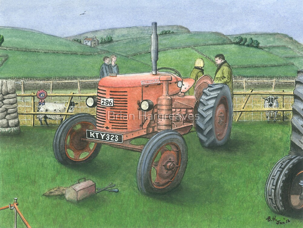 Tractor at Reeth Show, Swaledale by Brian Hargreaves