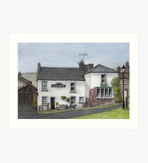 Reeth Ice Cream Parlour, Swaledale Art Print