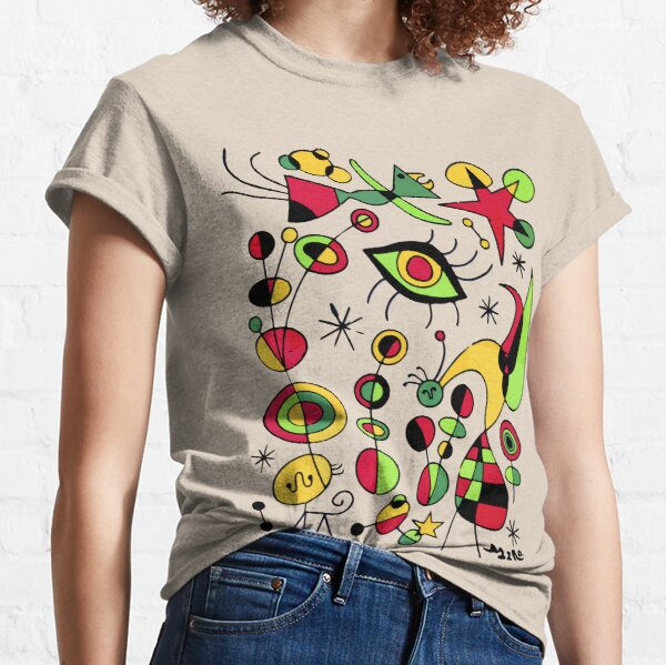 Joan Miro Peces De Colores (Colorful Fish ) Artwork for Posters Tshirts Prints Men Women Kids Classic T-Shirt