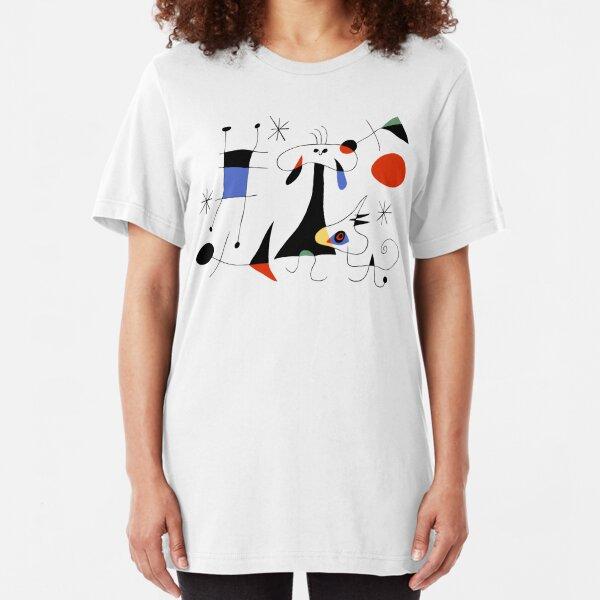 Joan Miro The Sun (El Sol) 1949 Painting Artwork For Prints Posters Tshirts Bags Women Men Kids Slim Fit T-Shirt