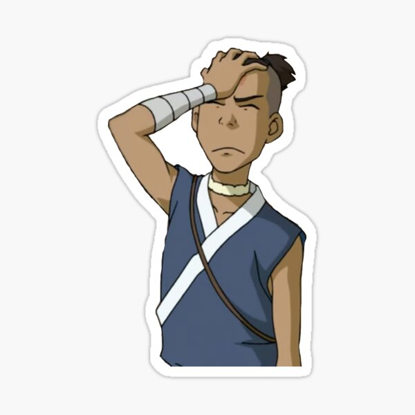 frustrated sokka Sticker