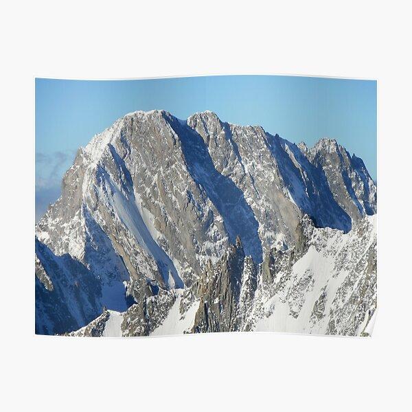 North face of Grandes Jorasses (Alps, France) Poster