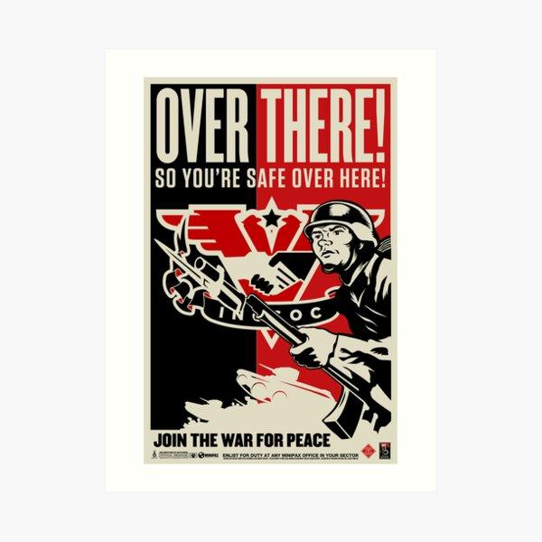 "INGSOC ""Over There"" 1984 Propaganda Poster Art Print"