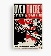 "INGSOC ""Over There"" 1984 Propaganda Poster Canvas Print"