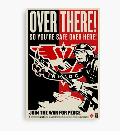 """INGSOC """"Over There"""" 1984 Propaganda Poster Canvas Print"""